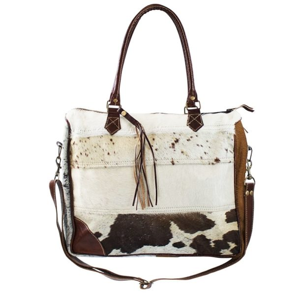Bag Cow  Colored   Leather 40x34x10cm Mars & More