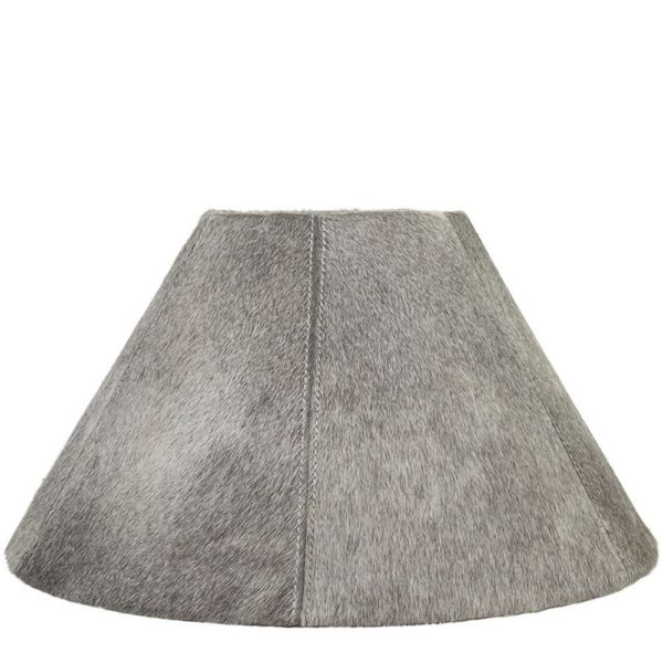 Lampshade Cow  Gray   Natural 16x39xh23cm Mars & More