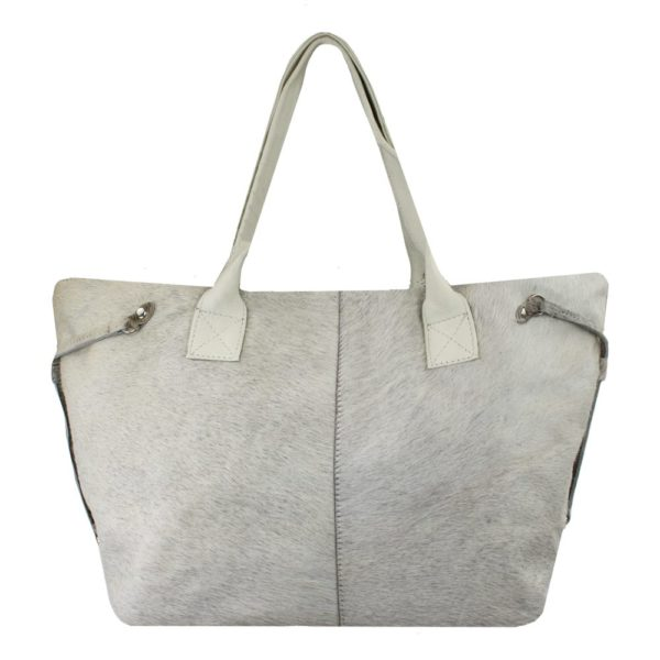 Bag Cow  Gray   Leather 50x15x30cm Mars & More