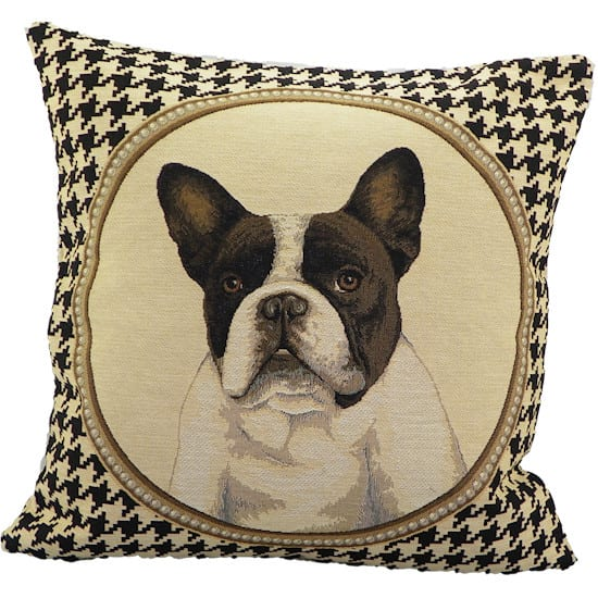 Cushion French bulldog Gobelin Colored Double-sided  Cotton 45x45x15cm Mars & More