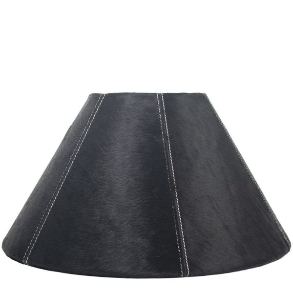 Lampshade Cow  Black   Natural 16x39xh23cm Mars & More