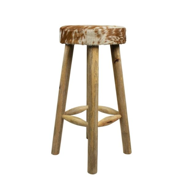 Stool Cow  Brown   Leather 35x35x75cm Mars & More