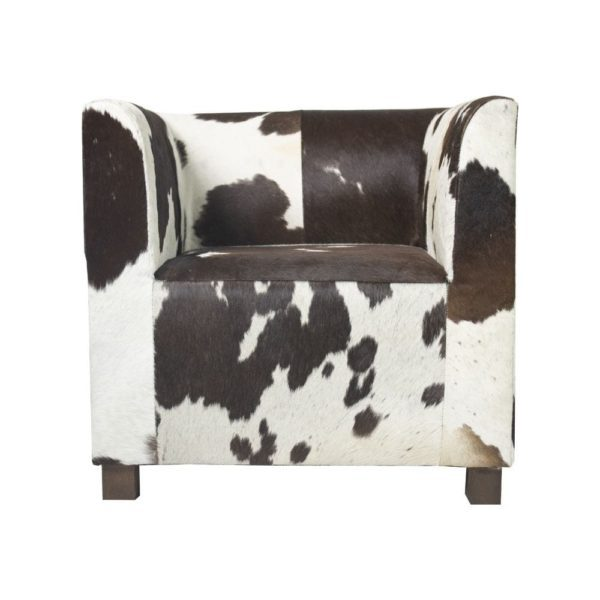 Chair Club Cow Dark Brown/white (ex Transport) (bos Taurus Taurus) leather - LifeDeals