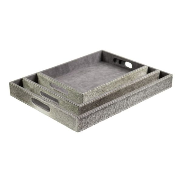 Serving Tray Cow  Gray  Rectangle MDF 46x36