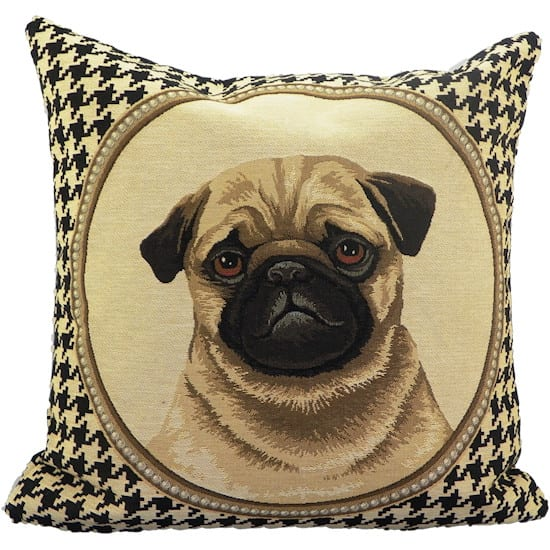 Cushion Pug Gobelin Colored Double-sided  Cotton 45x15x45cm Mars & More