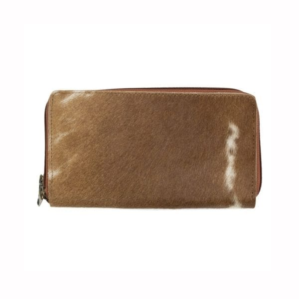 Wallet Cow  Brown   Cotton 20x12x3