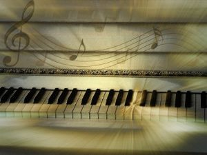 witte piano